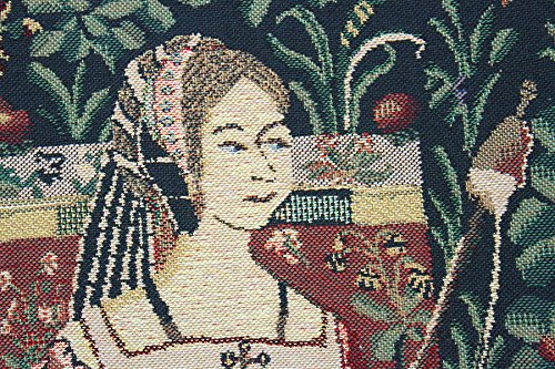 Reading in the Garden Belgian Tapestry by Charlotte Home Furnishings Inc.