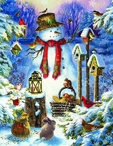Snowman in The Wild (Large Piece) 1000 Piece Jigsaw Puzzle by SunsOut