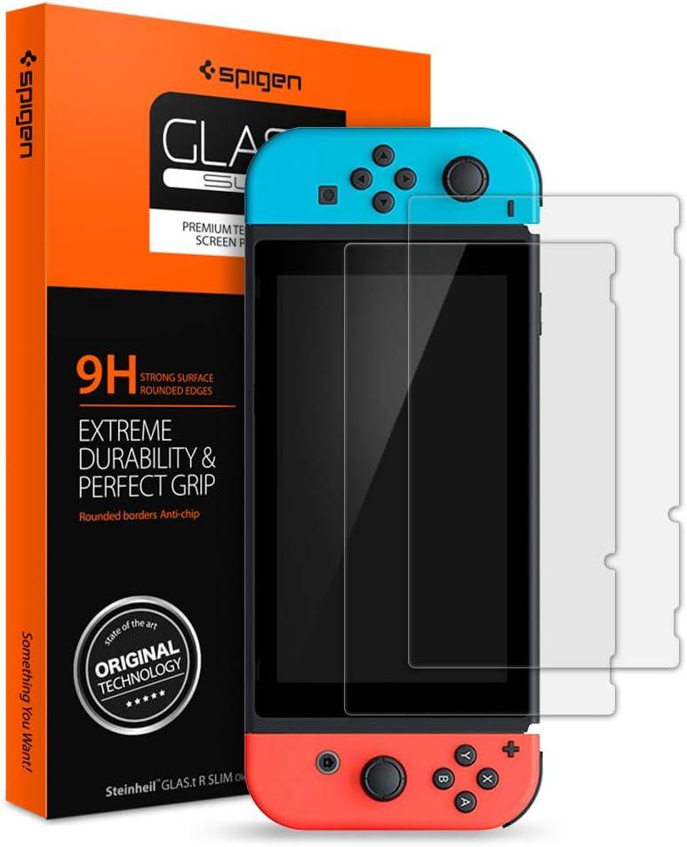 Spigen, 2 Pack, Protector Pantalla Nintendo Switch, Glas. tR Slim ...