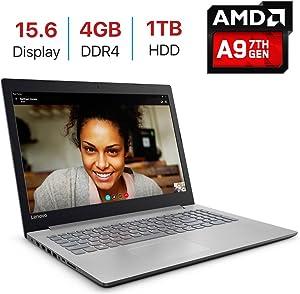Newest Premium Lenovo IdeaPad 320 15.6-inch HD Display Laptop PC (7th Gen AMD A9-9420 Processor 3.0GHz, 4GB DDR4, 1TB HDD, 802.11ac WiFi, HDMI, Bluetooth, Webcam, DVD±RW, Windows 10-Platinum Grey)
