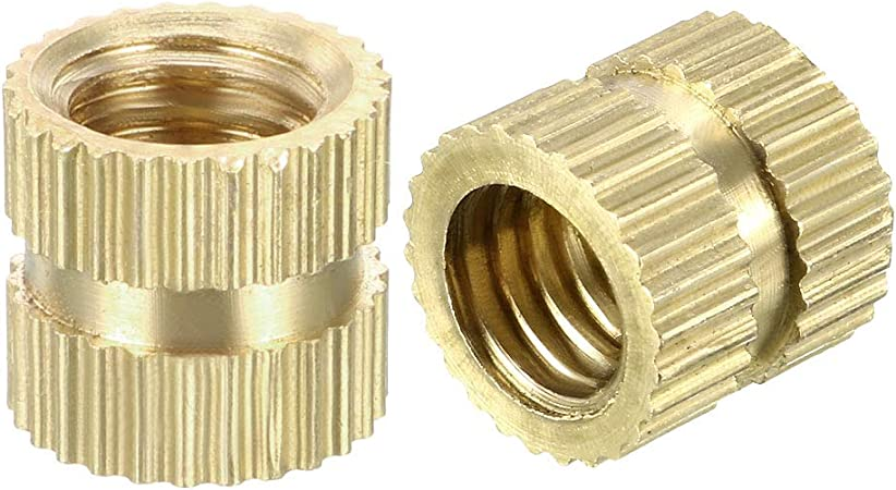 x 5mm uxcell Knurled Threaded Insert M3 x 3mm OD L Pack of 50 Female Thread Brass Embedment Nuts