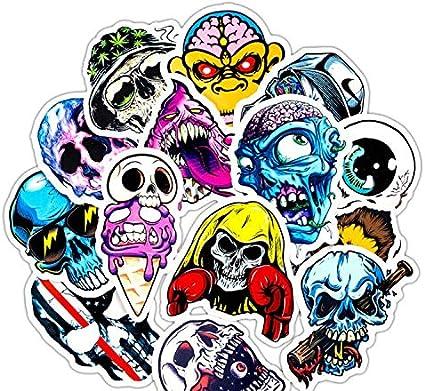 ZJJHX Terror Rock Stickers Pack Esqueleto Dark Sexy Funny Skull Laptop Stickers Nevera teléfono Celular Guitarra niños Stickers Sets 31 Piezas: Amazon.es: Coche y moto