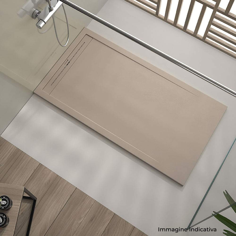 maier Receveur de douche en pierre Oasis Gris clair diff/érentes mesures 80x170 cm