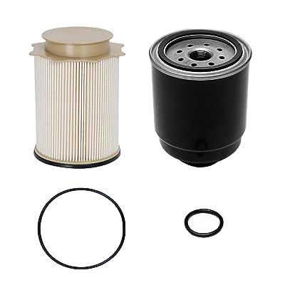 6.7L Cummins Fuel Filter Water Separator Set   for 2013-2020 Dodge Ram 2500 3500 4500 5500 6.7L Cummins Turbo Diesel Engines   Replaces# 68197867AA, 68157291AA: Automotive