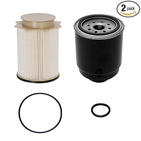 6 7l cummins fuel filter water separator set | for 2013-2018 dodge ram 2500
