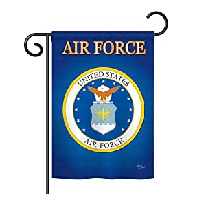 "Breeze Decor G158054 Air Force Americana Military Impressions Decorative Vertical Garden Flag 13"" x 18.5"" Printed in USA Multi-Color"