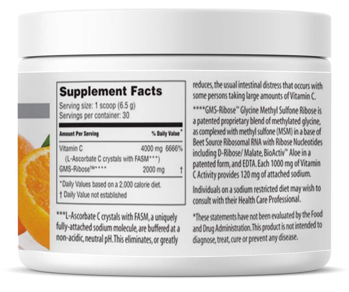 American Nutriceuticals Vitality C - 200 Gram (Pack of 2) | Ultra High-Potency Vitamin C Powder Without Gastric Distress | Enhanced Absorption, Neutral pH with GMS-Ribose Complex by Vitality C (Image #2)