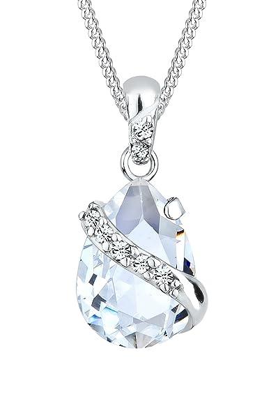 Elli Women's 925 Sterling Silver Xilion Cut Necklace of Length 45 cm Yyh3F