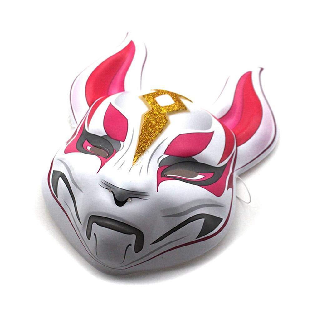 Leegoal Fortnite Fox Drift Maske, 3D Gedruckt Halloween Latex Cosplay Kostüme Vollgesichtsmaske für Erwachsene Kinder Spiel