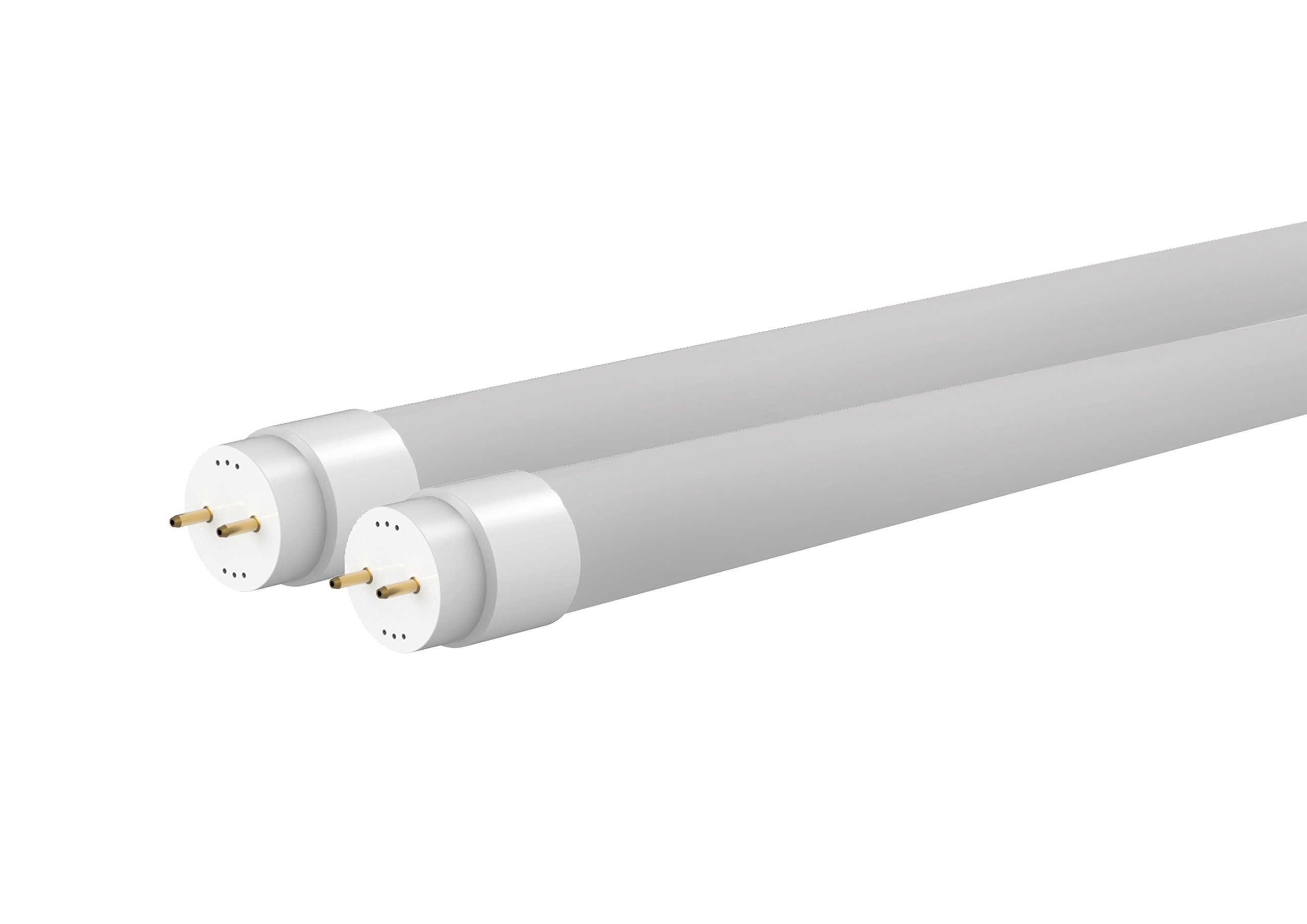 Pack 2 tubos LED 120cm 18W, color blanco neutro 4000K, Nano plástico, incluye