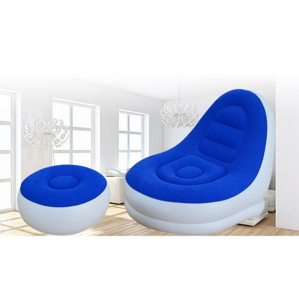 Modernes minimalistisches Sofa des Luftbett faulen Sofas, das tragbares aufblasbares Sofa faltender Mittagspausenstuhl schart