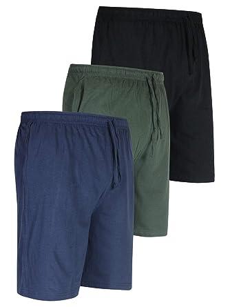 fd7eb3f4d45 3 Pack:Men's Jersey Knit Cotton Pajama Bottoms Shorts Sleep Bamboo Modal  Lounge Wear PJ