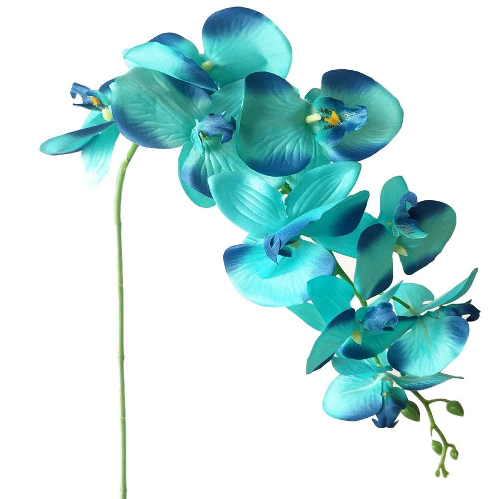 NAttnJf 1 Unid Flor Artificial Orqu/ídea Mariposa Escenario Fiesta de Boda en casa Oficina de Boda Hoteler/ía Craft Hotel Blue