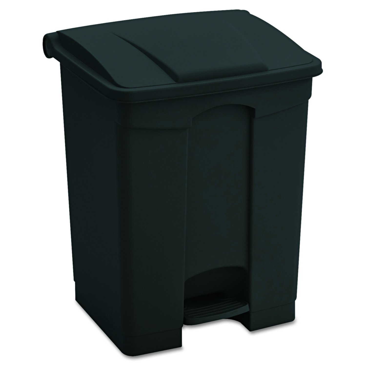 Safco Products 9923BL Plastic Step-On Trash Can, 23-Gallon, Black