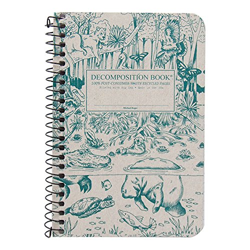 Michael Roger Press Everglades Pocket Wirebound Notebook, 4 by 6 Inches, Lines Pages, Made from 100 Percent Post Consumer Waste Recycled Paper, Made in The USA