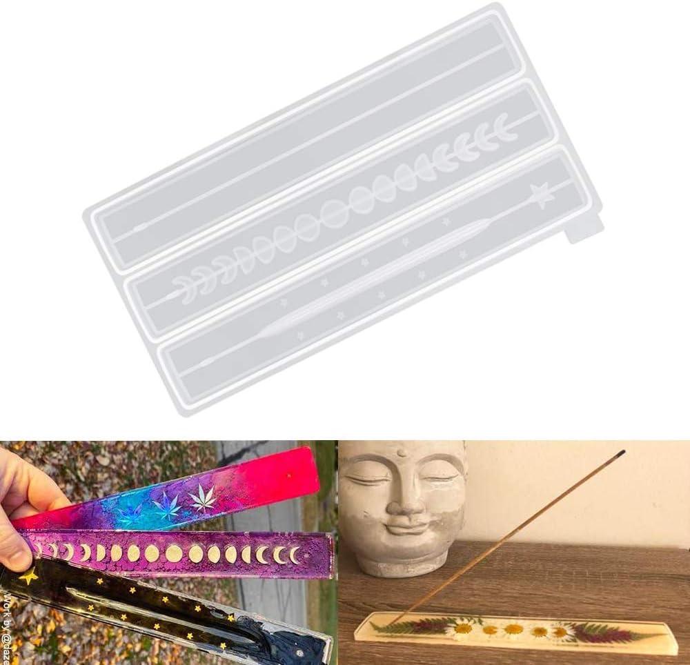 Moldes de silicona de base de incienso (Pack de 3)