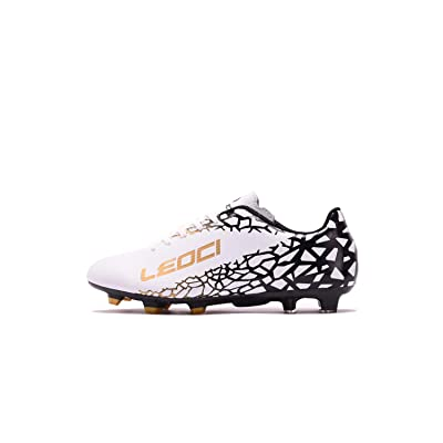 LEOCI Soccer Shoes - Athletic Football Shoes for Men and Boy Outdoor Soccer Shoes | Soccer