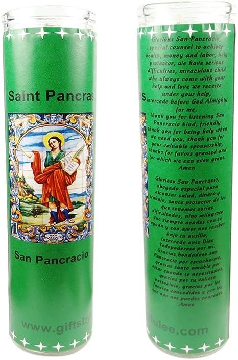 DRW San Pancracio con Vela Incienso y oraci/ón en Caja de Regalo Figura de 15 cm