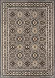"Cheap Momeni Rugs ROYALRY-01GRY237A Royal Collection Power Loomed Traditional Area Rug, 2'3″ x 7'10"", Grey"