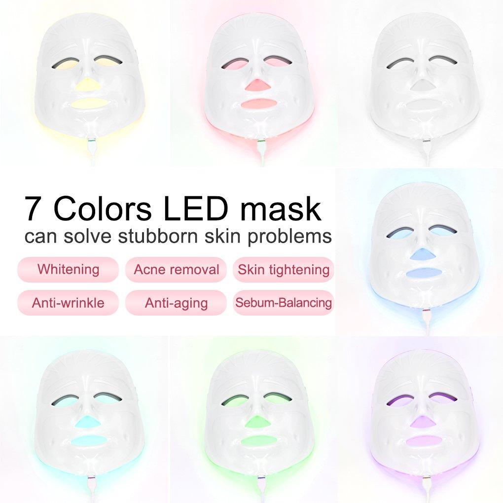 Skin Care Skin Care Tool Loyal 7 Colors Light Photon Electric Led Facial Mask Tester Skin Rejuvenation Anti Acne Wrinkle Removal Therapy
