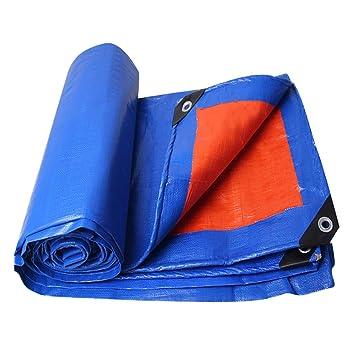Amazon.com: Lona impermeable color azul naranja, cubierta ...