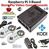 RetroBox - Raspberry Pi 3 Based Retro Game Console, 32GB Edition Black Matte Case with Heatsinks Installed