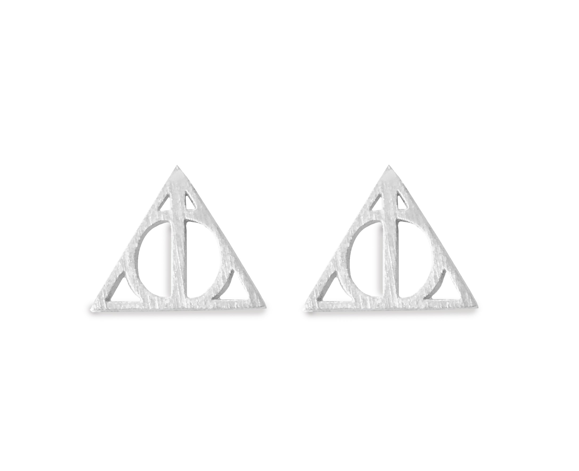 Altitude Boutique Geometric Triangle Stud Pyramid Earrings Punk Earrings (Gold, Silver) (Silver Tone)