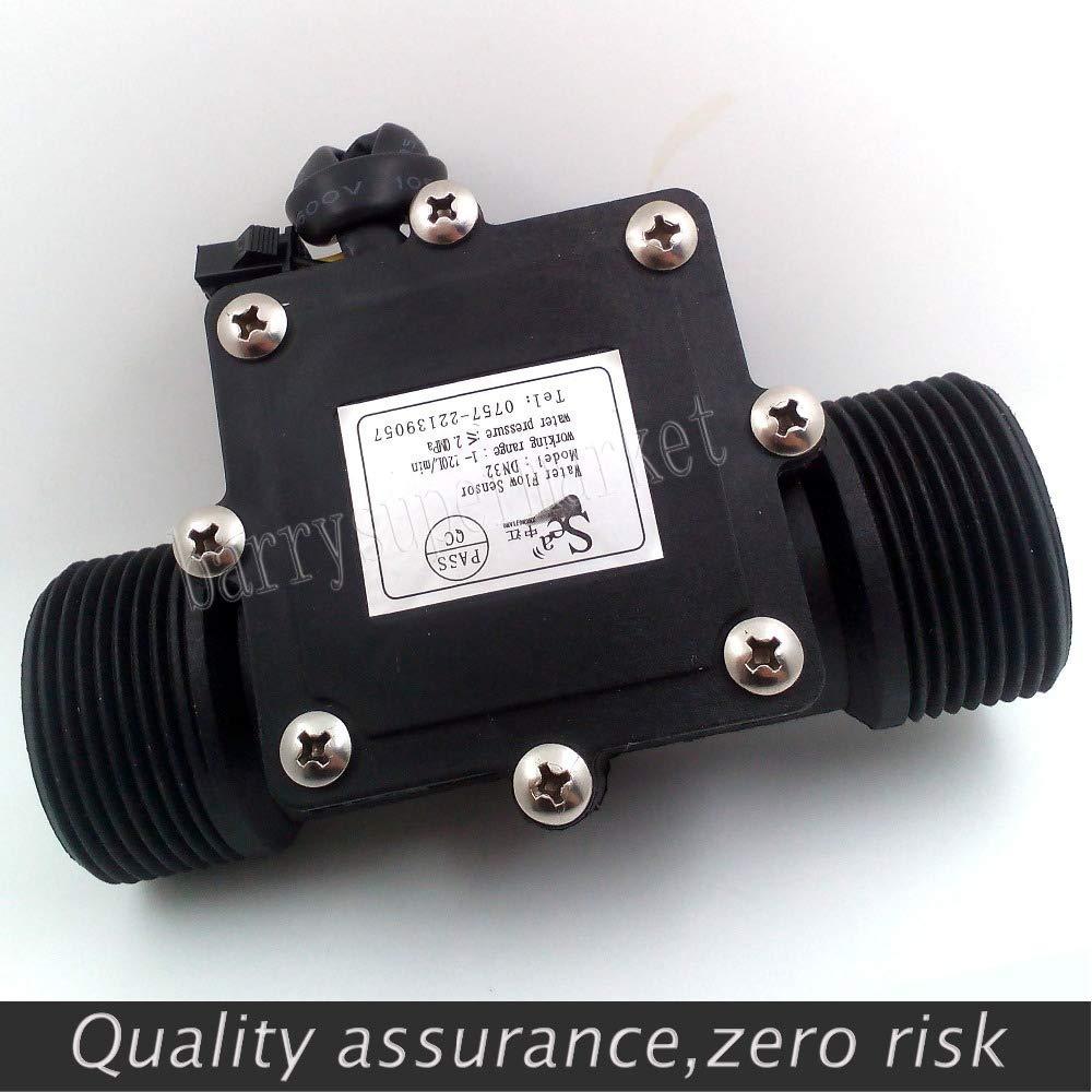Sensor de Flujo de Agua Medidor de Flujo de Agua Industrial Contador Hallsensor Interruptor DN32 G1-1//41-120L//min