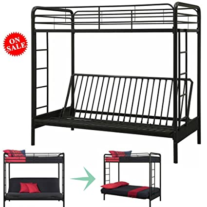 Awe Inspiring Amazon Com Bunk Bed Couch Convertible Twin Bed For Kids Squirreltailoven Fun Painted Chair Ideas Images Squirreltailovenorg