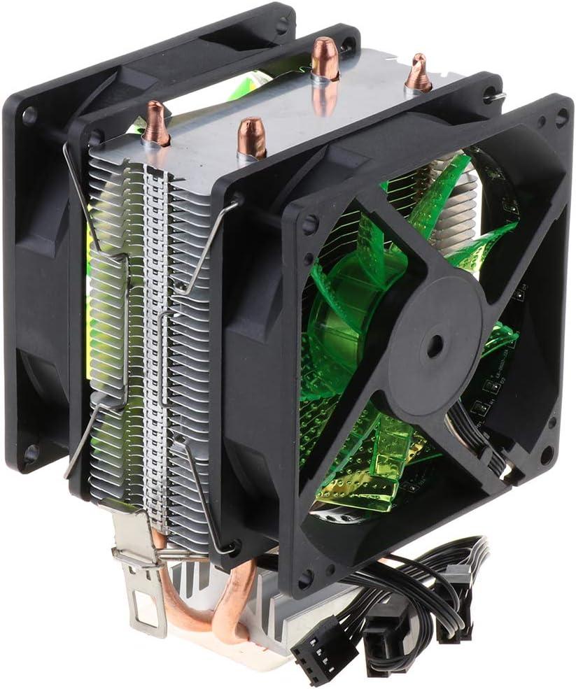 Blue Quiet CPU Cooling Fan 4Pin Cable 12 LED CPU Cooler Gazechimp Dual Heatpipe Dual