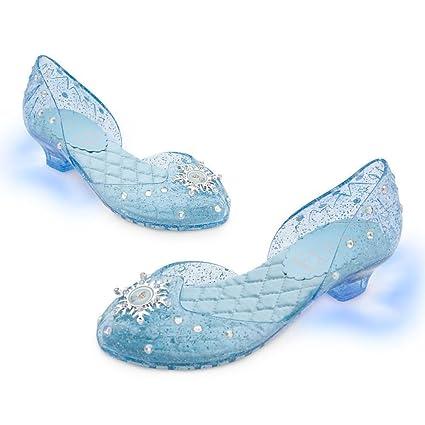 c1d8ecc13ea Amazon.com  Disney Store Frozen Princess Elsa Light-Up Shoes Costume  Slippers Size 13 1  Toys   Games