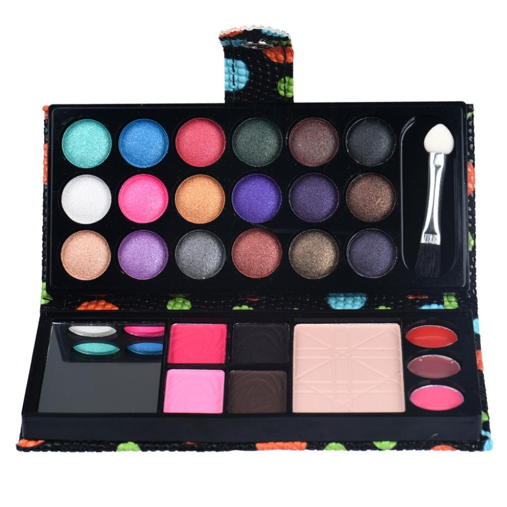 Exteren 26Colors Eye Shadow Makeup Palette Cosmetic Eyeshadow Blush Lip Gloss Powder Makeup Kit Eyeshadow Palette Pallets Primer Eyeshadow With Glitter (Black)