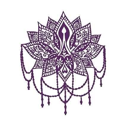Amazon.com: Flor de loto calcomanía de pared Yoga Studio ...