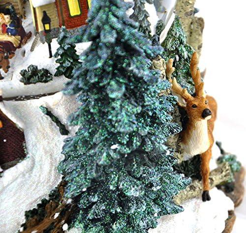 MusicBox Kingdom 46076 Winter Landscape Music Box Playing Leise Rieselt Der Schnee