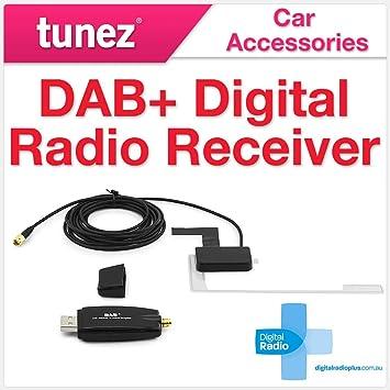 TUNEZ - Antena de Radio Digital Dab para Radio de Coche, Adaptador USB Dab para Radio de Coche Digital Dab para Unidad de Cabeza Android TuneZ