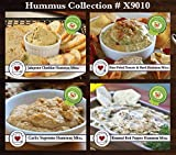Country Home Creations Premium Gourmet Hummus Mix Collection – 4 Flavors (Garlic Supreme, Jalapeno Cheddar, Roasted Red Pepper, Sun-Dried Tomato & Basil For Sale