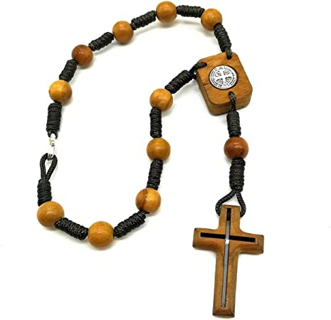 Car Rosary Personalized rosario Auto rosary Patron of Travel car Acessories Catholic gift Religious Jewelry Cross Saint benedict Heard beads