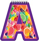 "iscream Letter A Shaped Spiral-Bound Lined-Page 6.5"" Initial Notebook"