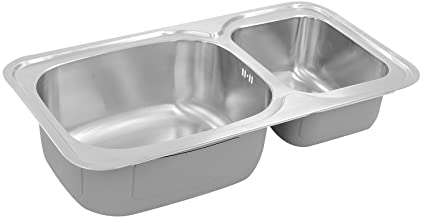 HAFELE Stainless Steel Double Bowl Sink (Silver, Satin Finish, 1-Piece)