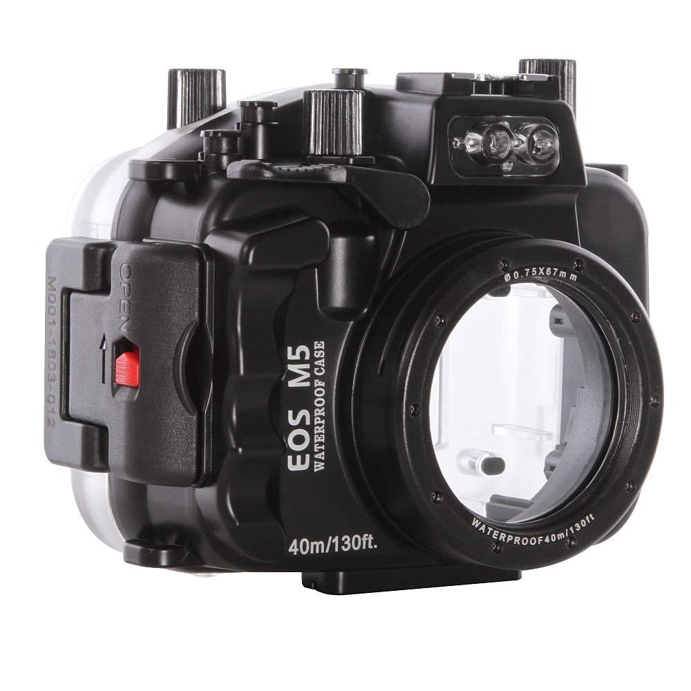 Ruili 130フィート 40m 防水カメラハウジングケース Canon EOS M5カメラ用 11-22mmレンズ付き   B07P7VNZXD