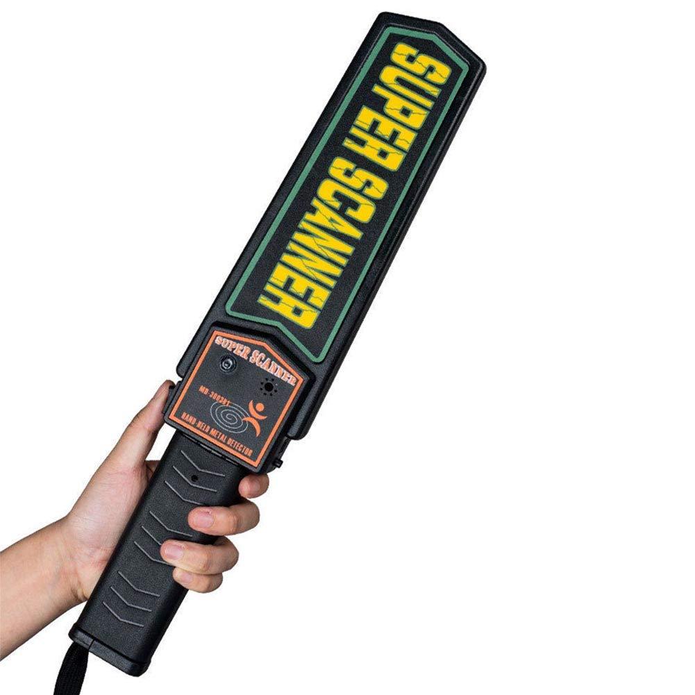 GETIT72 Detector de metales portátil de mano de seguridad, LED de escaneo seguro, detector de metal de mano, escáner de seguridad de vara, escáner de alarma ...