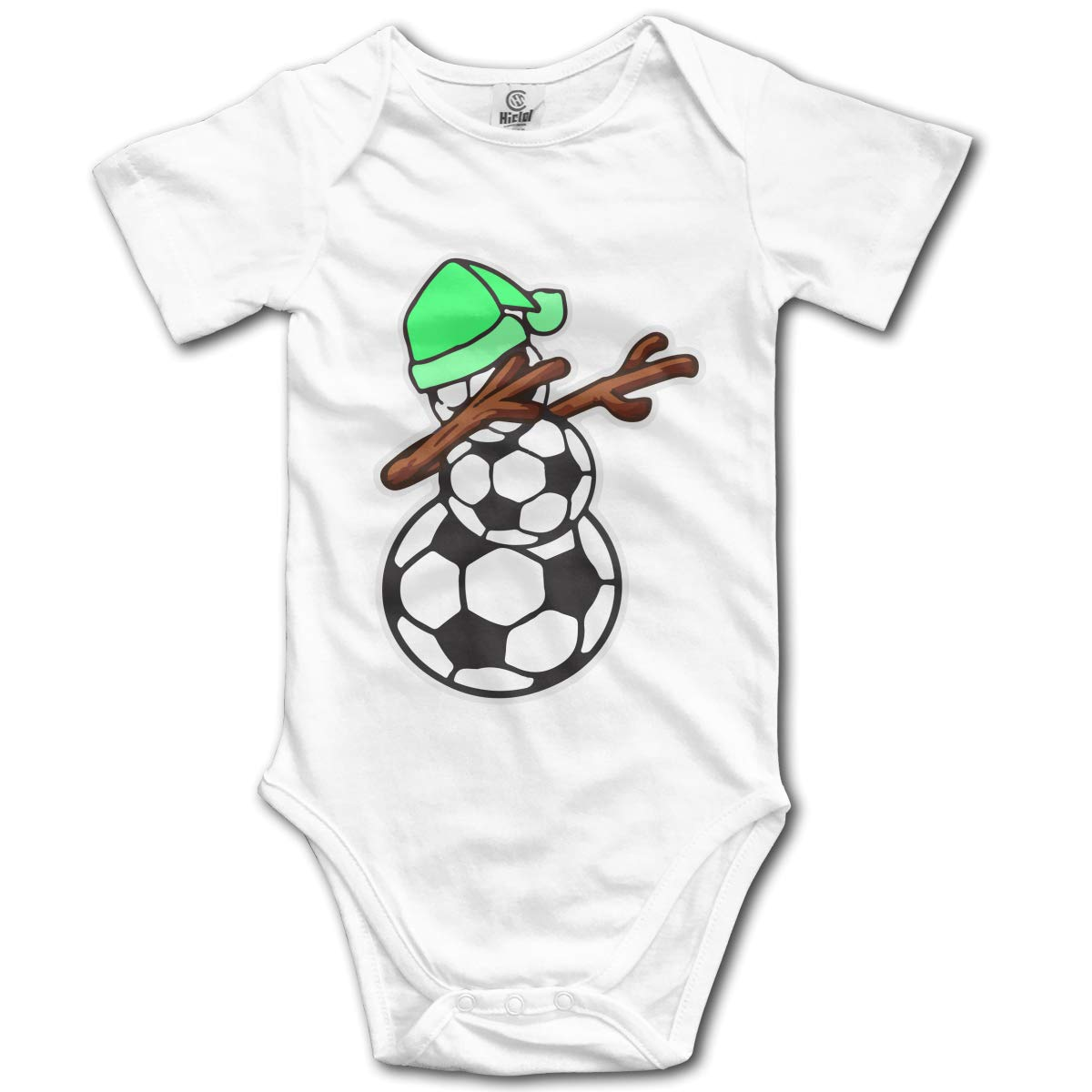 Dabbing Soccer Snowman Newborn Infant Baby 100/% Organic Cotton Romper Jumpsuit 0-24 Months