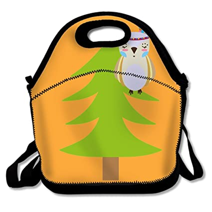 fcb3342097c1 Amazon.com: LONSANT Ethnic Owl Animal in Pine Tree Funky Lunch Box ...