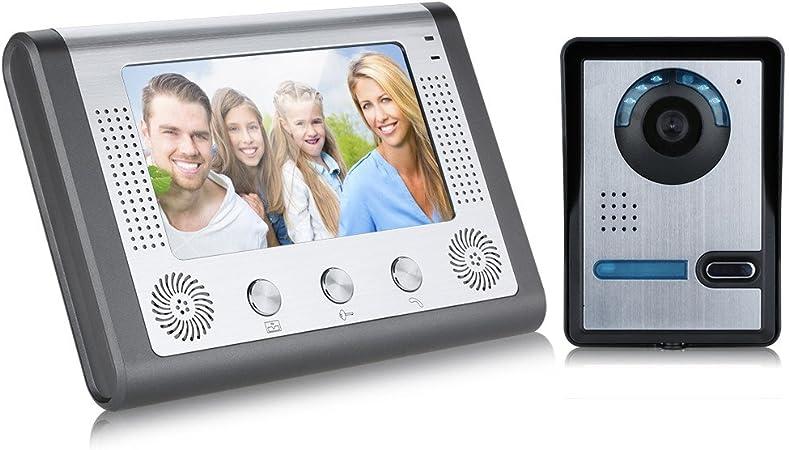 7/'/' Video Türklingel Klingelanlage Türöffner Haussprechanlage IR Kamera Monitor