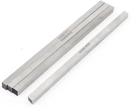 uxcell 2mm x 10mm x 200mm Machinist Metal Cutting Lathe HSS Tool Bit 2 Pcs