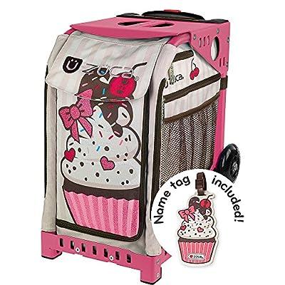 delicate Zuca Sprinklez ice skating bag - choose your frame color! (pink frame)
