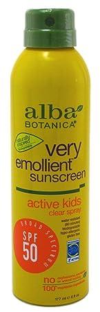 Alba Botanica Spf50 Sunscreen Kids 6 Ounce Clear Spray 177ml 3 Pack