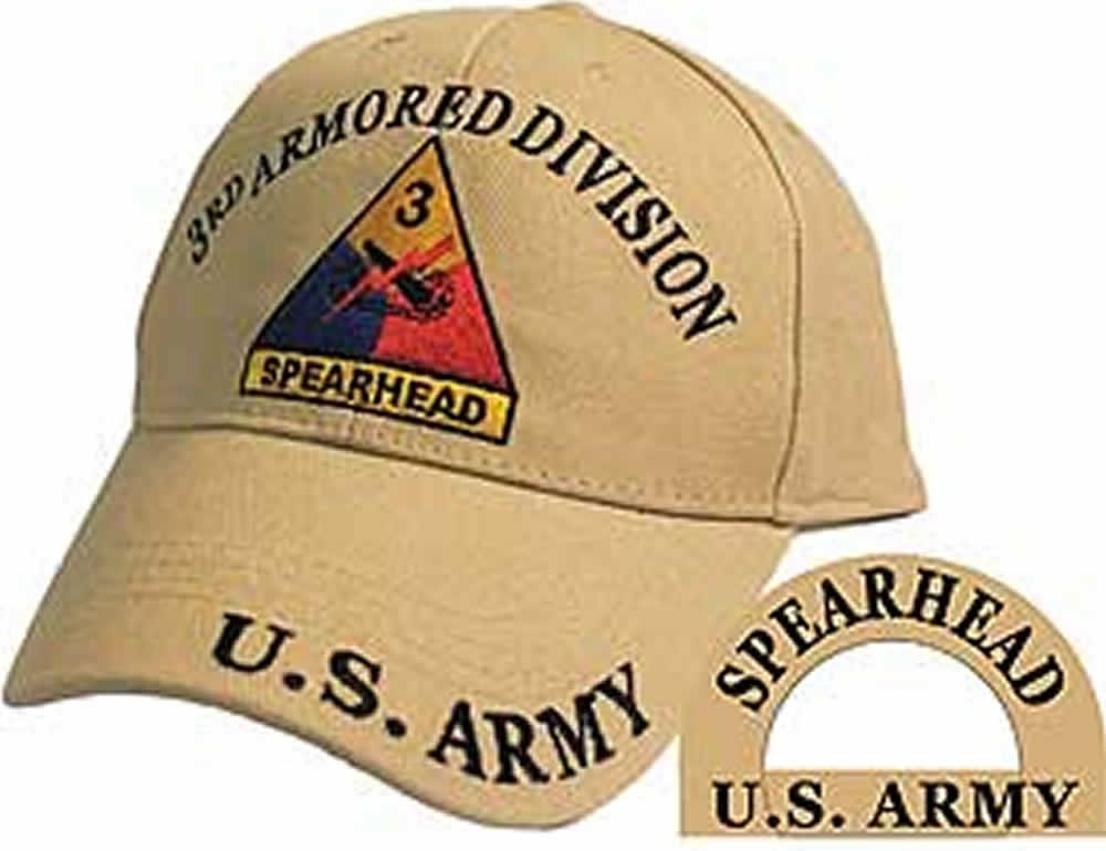 U.S. ARMY 3RD ARMORED DIVISION SPEARHEAD Embroidered Hat - Color - Veteran Owned Business