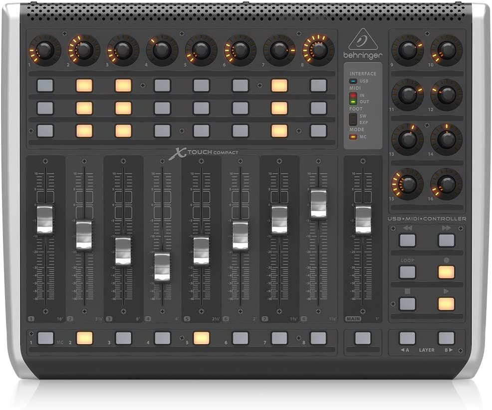 front facing Behringer X-TOUCH MIDI Controller