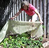 Frost Protek Floating Row Cover -5 feet by 10 feet –Garden Fabric for Plant Protection and Insulation